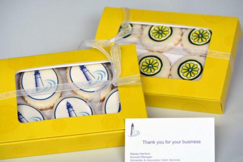 Business logo cookies