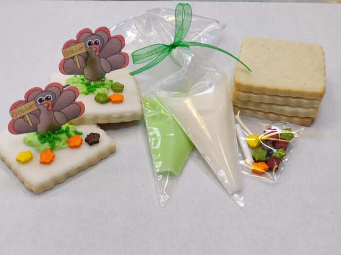 Thanksgiving Place card cookie Decorating kit